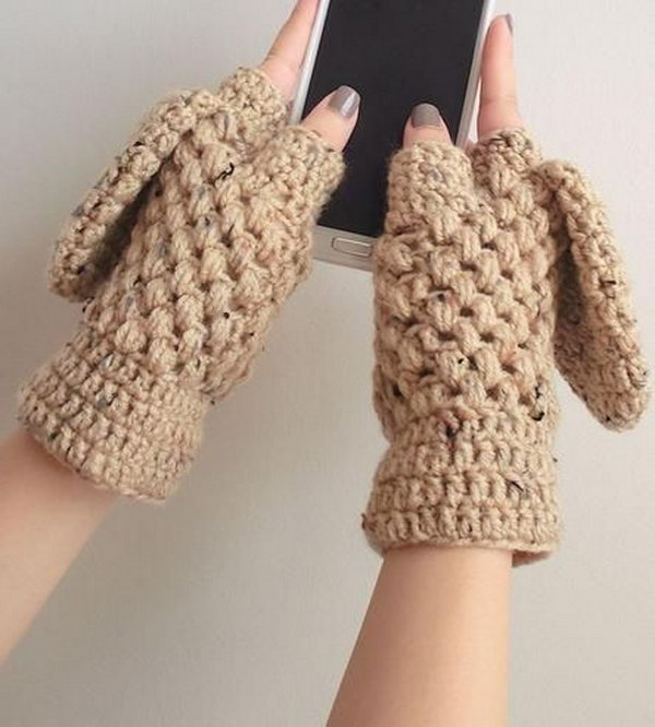 Crochet Gloves. A pair of handmade gloves is a sweet and warm birthday present for people whose birthdays are in winter.