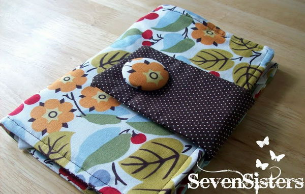 Kindle Case. It is quite simple to make a kindle case by hand. Moreover, a beautiful homemade case is a wonderful birthday gift for people who like reading electronic books.