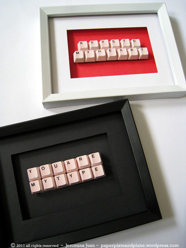 Keyboard Message. Making this keyboard gift is super easy and quick. It is a great birthday gift idea for friends or family.