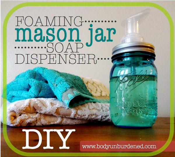 Mason Jar Soap Dispenser. This mason jar soap dispenser is a economic and easy present. It is very practical and useful.