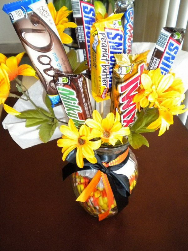 Candy Bouquet. Candy bouquet is a creative way to give candies to friends as a present. And it's super esay to make.