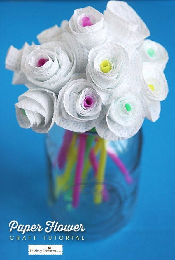 Paper Flowers. This is an inexpensive and creative present for friends. Your friends can use these gorgeous paper flowers to decorate their room.