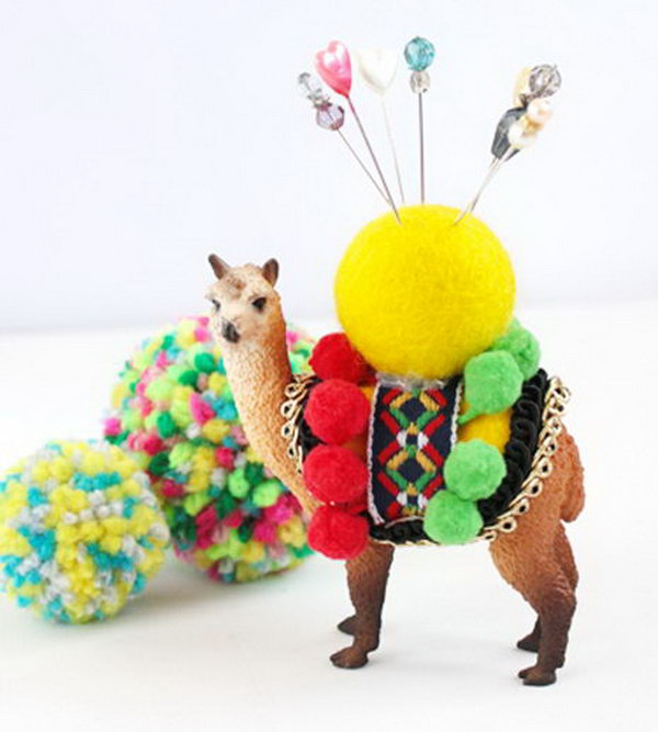 Animal Pin Cushion. This cute homemade pin cushion is a wonderful present for moms. It is both practical and decorative.