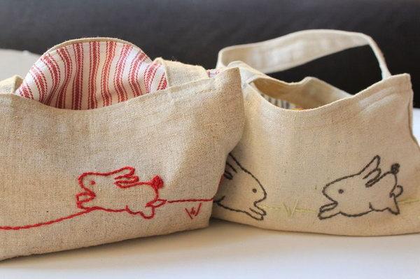 Embroidered Bag. This beautiful and distinctive embroidered bag is a great and useful gift for your mom. It is very simple to make.