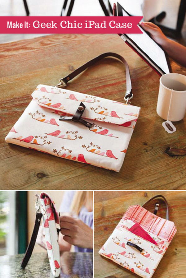 The Geek Chic iPad Case. This iPad case looks like a smart handbag. It's very convenient for you to carry your iPad outside.