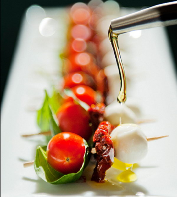 Caprese Sticks. Use toothpicks to pierce the tomatoes, fresh basil and perl mozzarella through. It will make you mouthwatering with this tart and sweet flavor.