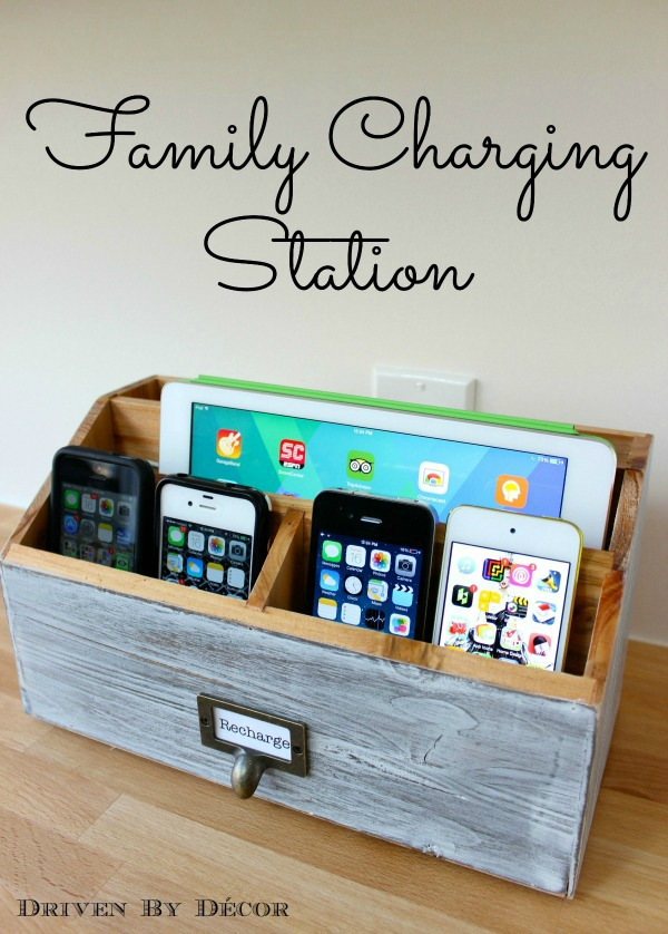 Charging Station. Create a charging station for your husband to help him keep his electronic devices together and fully charged. This present is both useful and decorative.