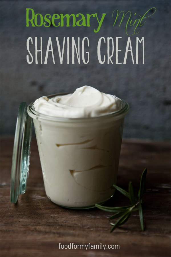 Homemade Shaving Cream. It is a great gift idea to make a personalized shaving cream that men often use for your father or husband.