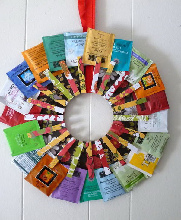 Tea Wreath. This beautiful tea wreath is a perfect gift for any tea lover. This is a great man's gift choice for your father or grandfather if he loves drinking tea.