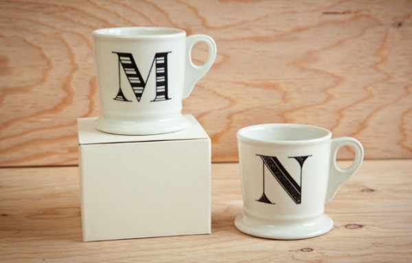Monogrammed Mugs. Give men something useful like a personalized mug as a gift on special days. The monogrammed mugs are super easy to make.