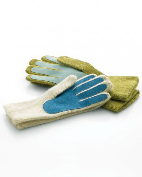 Handmade Gloves. This is a useful and practical present for men. And they are super easy and simple to make.