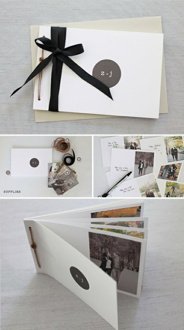 DIY Photo Book. This is an awesome holiday gift for men, especially for your boyfriend. And it is super easy to create this unique photo book.