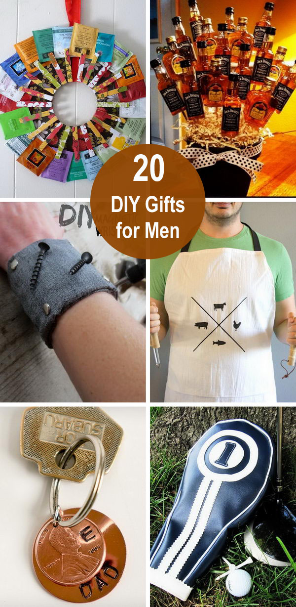 20 DIY Gifts for Men.