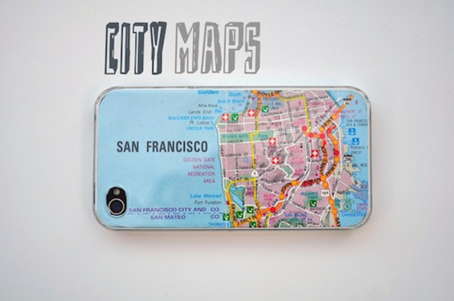 DIY Iphone Map Case. Cut the map the same size as the case of your device, make sure you leave a bit so it won't come up short. Personalize your ideal one with the map pattern you like the most. It's fashionable to decorate your device with this beautiful map case decor.