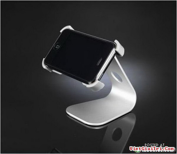 Mobile Stand Deluxe. This high tech, ultra stylish iPhone dock will be the focal point to display your iPhone device at the perfect angle to bring your pleasure with its charming design.