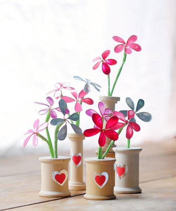 Nail Polish Decorative Flowers. These delicate little blooms are the perfect crafty gifts on Valentine's Day. Here's the tutorials for you.