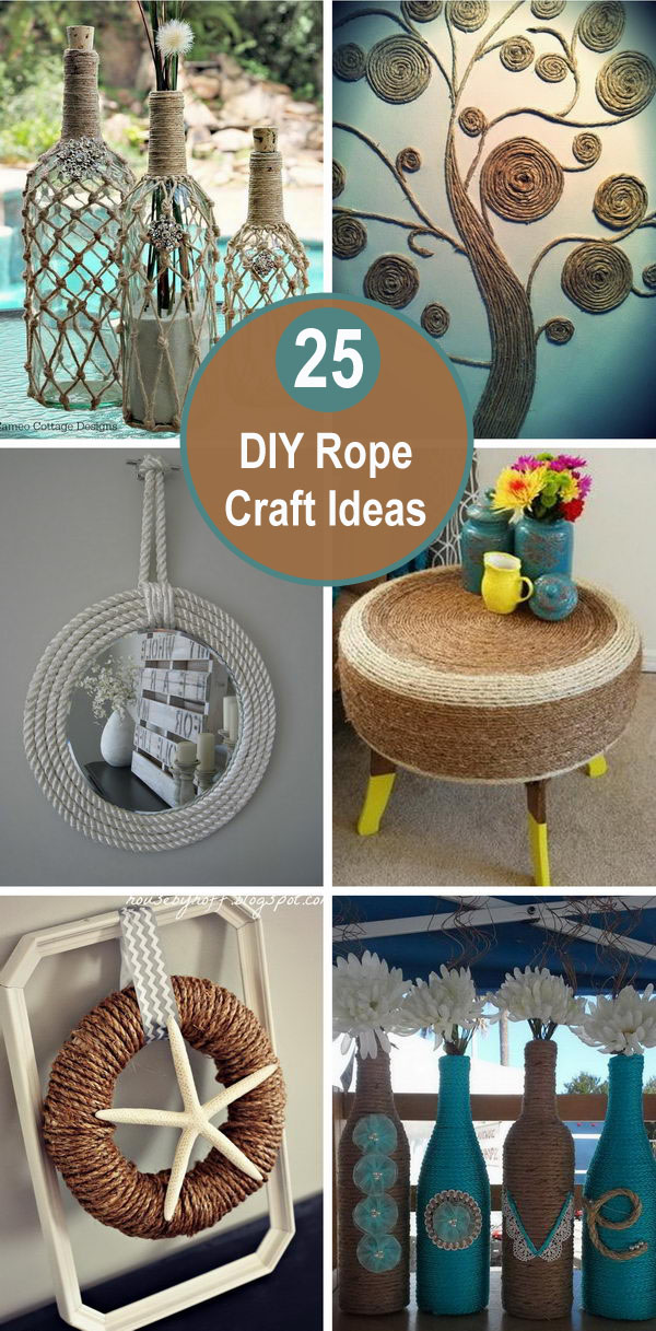 25 DIY Rope Craft Ideas.