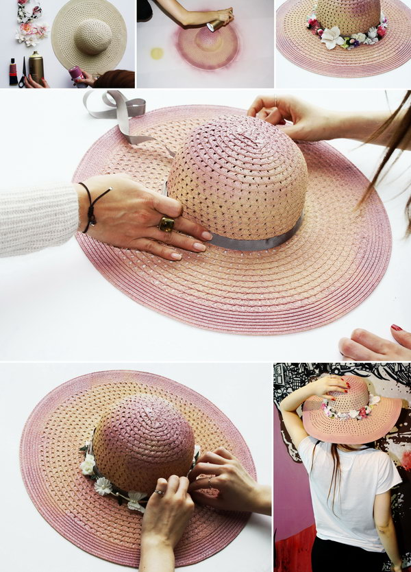 DIY Pink Floral Hat. This vintage pink floral hat is very easy to make. See the step by step here.