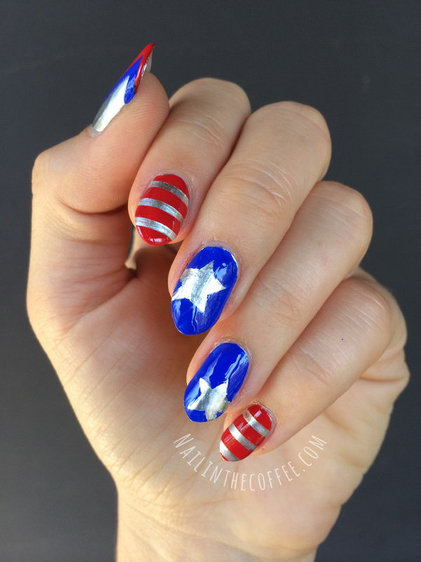 Nail Art For 4th Of July Nails Gallery
