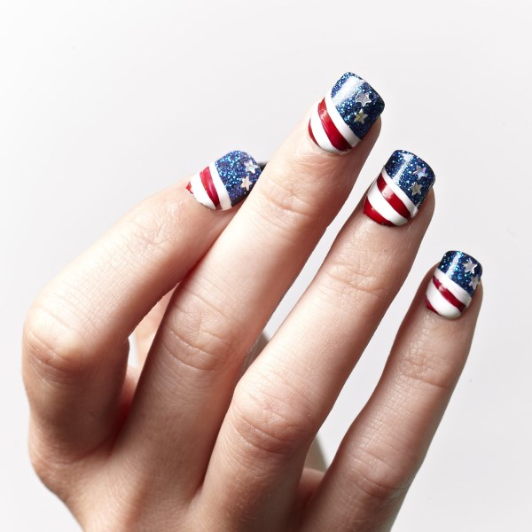 Flag Day Patriotic Nails: With their galaxy nails set, you can create a great 4th of July nails look that is just you, but totally shows your pride. See more here.