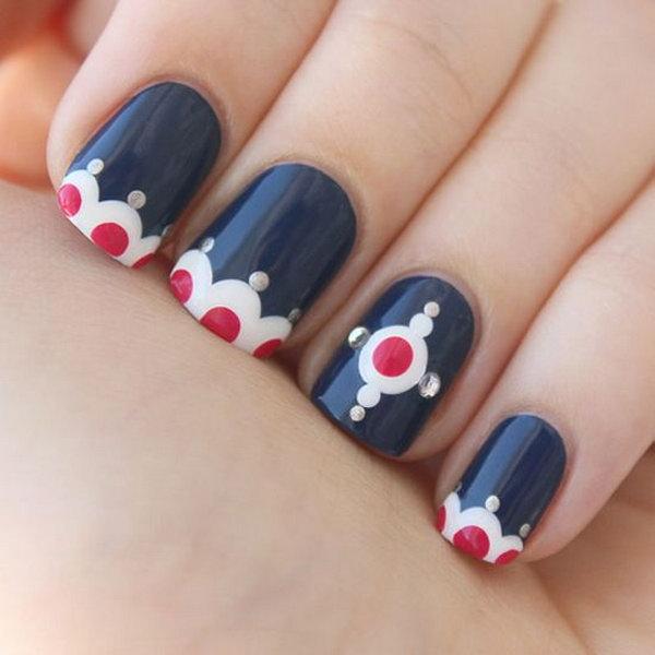 Magnificent Best Navy Nail Polish Tiny Toe Nails Art Clean Nail Art Glitter Chanel Elixir Nail Polish Youthful Guys Nail Polish BrownAirbrush Nail Polish 36 Cute 4th Of July Patriotic Nail Art Ideas   Styletic