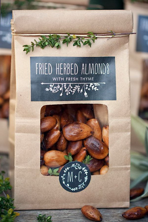 Homemade Fried Herbed Almonds