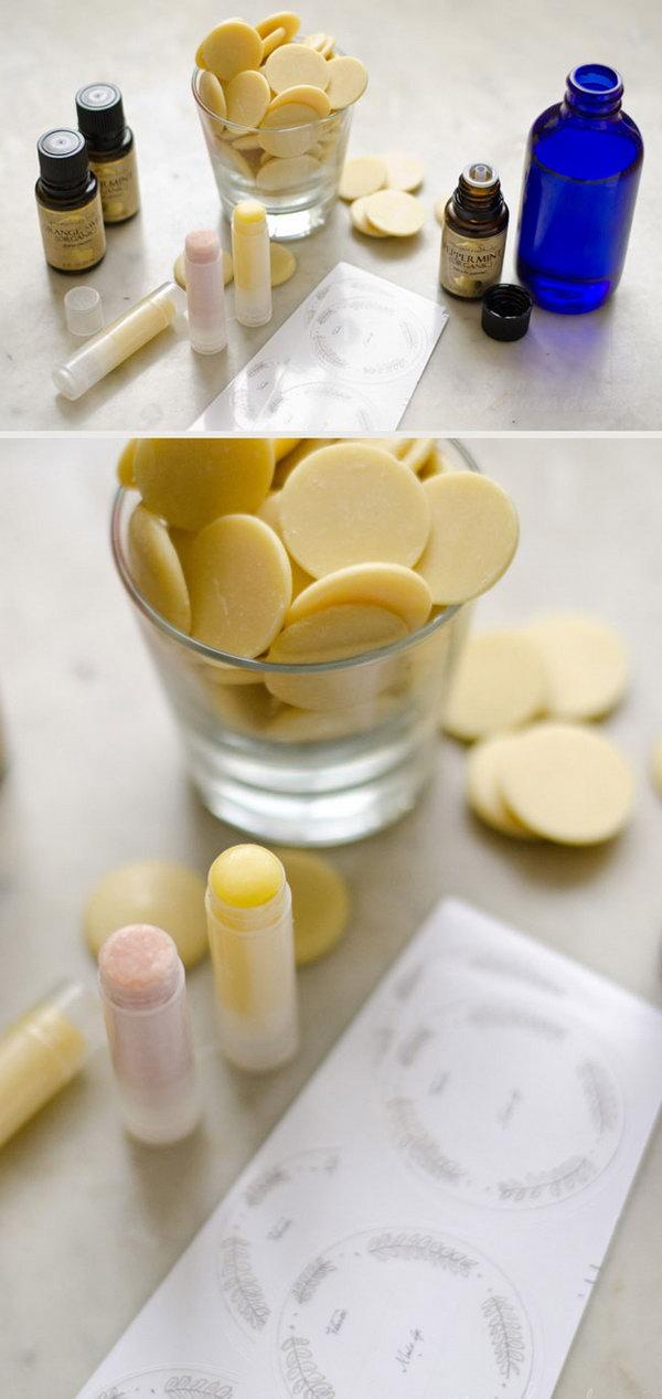 DIY Lip Balm Favors