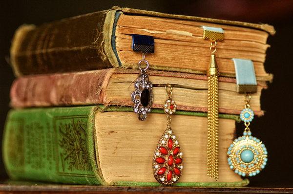 Stylish DIY Ribbon Bookmarks