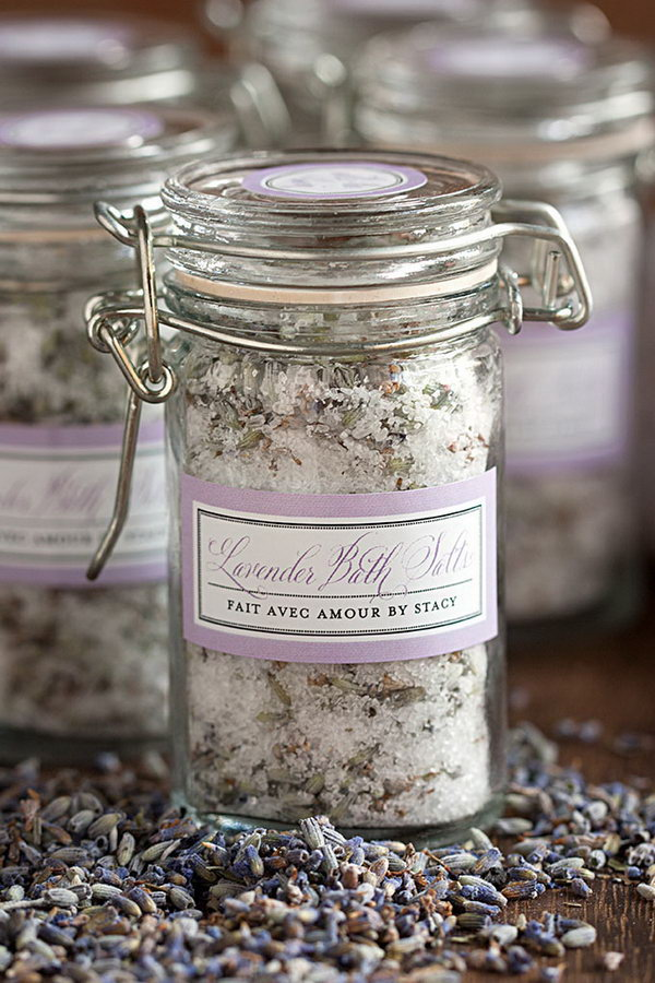 DIY Lavender Bath Salts with Lavender Grown from Your Own Garden