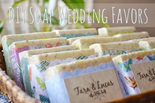 DIY Cute Wedding Favors with Melt and Pour Soap & Crochet River Rocks
