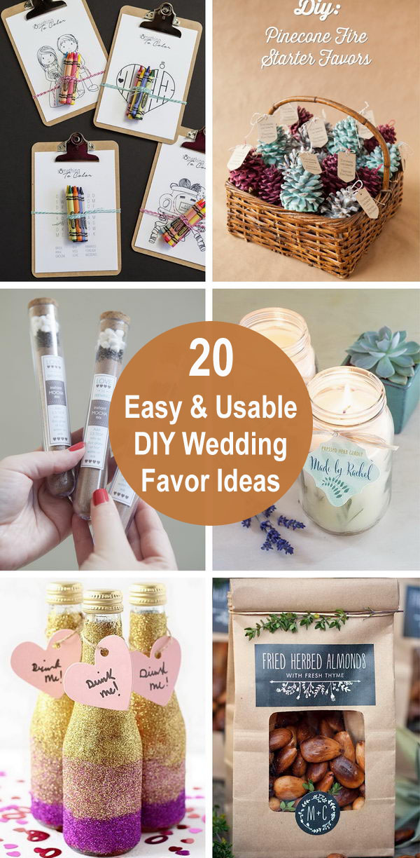 20 Easy and Usable DIY Wedding Favor Ideas.