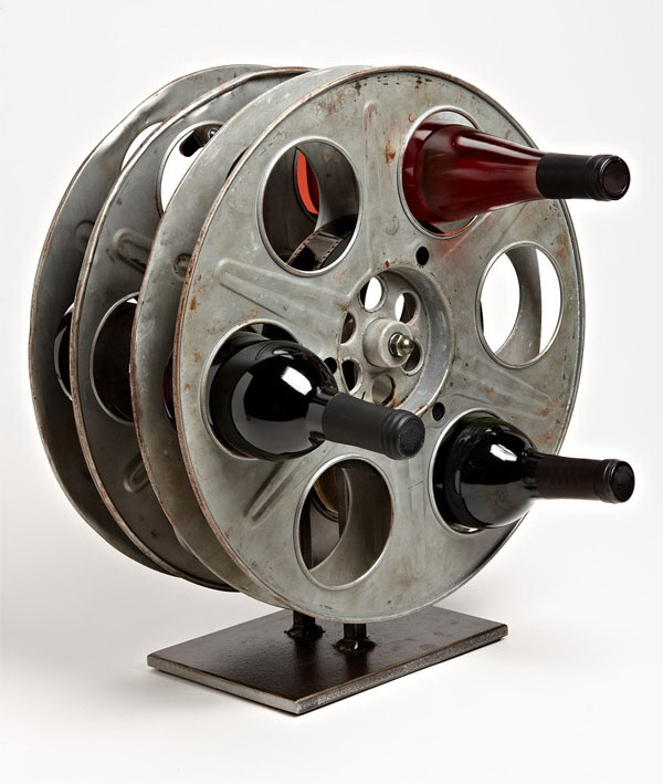 Film Reel Wine Rack