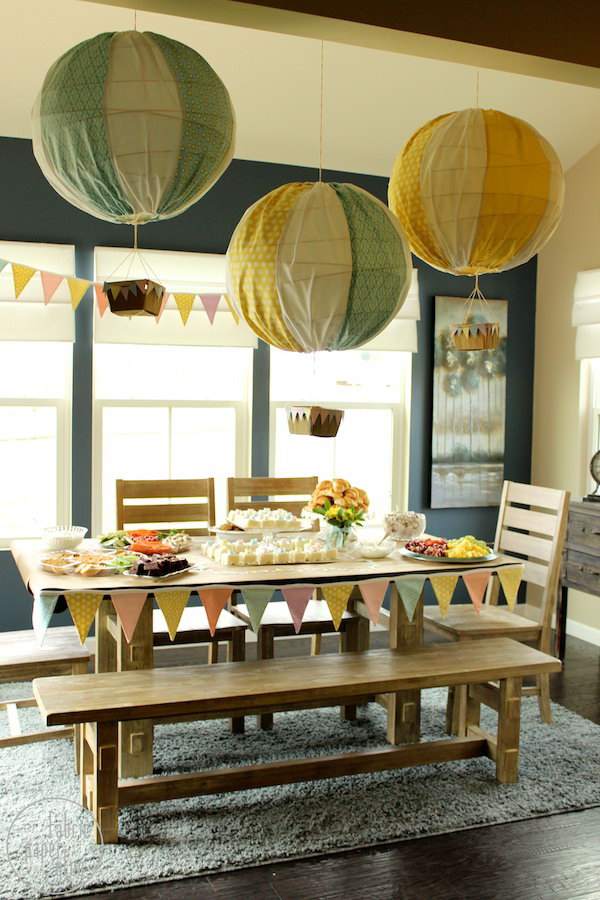 Fabric Hot Air Balloon Decorations. A unique and custom decoration item for the family party. See more details