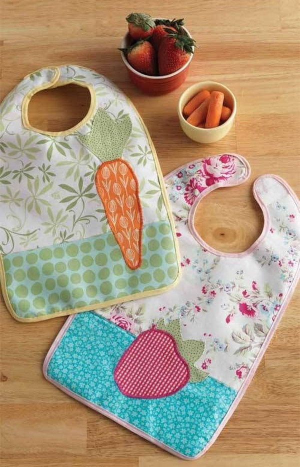 Springtime Bibs for Kids. These garden inspired bibs are almost too pretty for dinnertime!