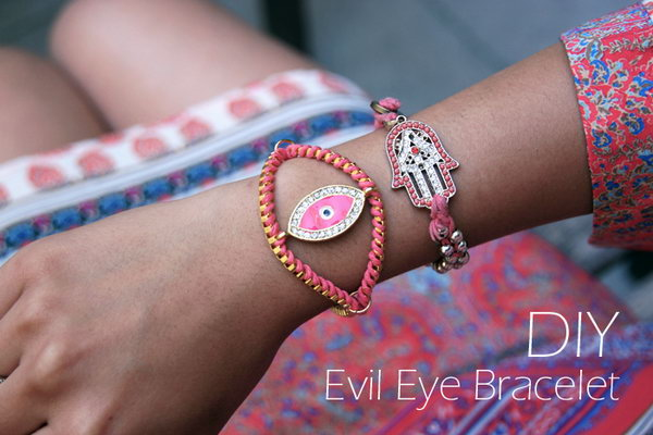 Evil Eye Bracelet. See the tutorial