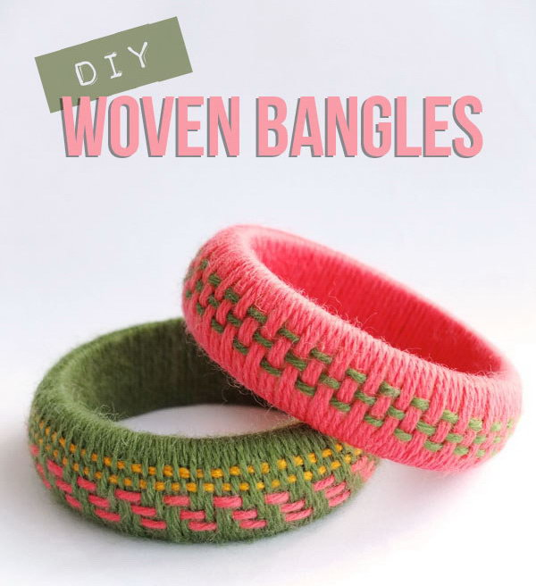 DIY Fun and Cozy Woven Bangles. See the tutorial
