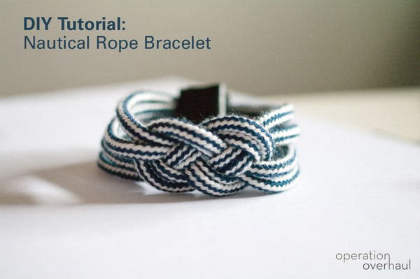 Nautical Rope Bracelet.  See the tutorial