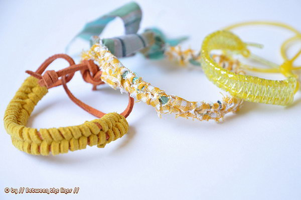 DIY Summer Bracelets. See the tutorial