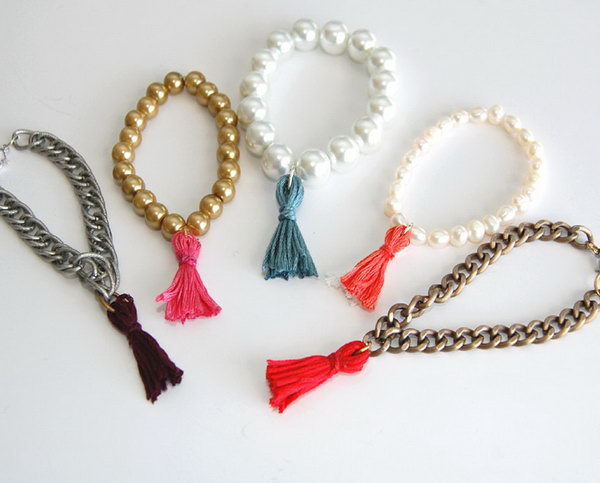 Threat Tassle Bracelet. Get the steps