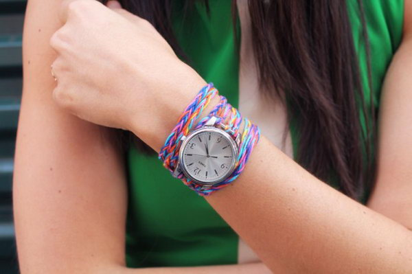Watch Wrap Bracelets. See the tutorial