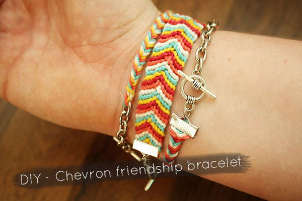 DIY Chevron Friendship Bracelet. See the tutorial