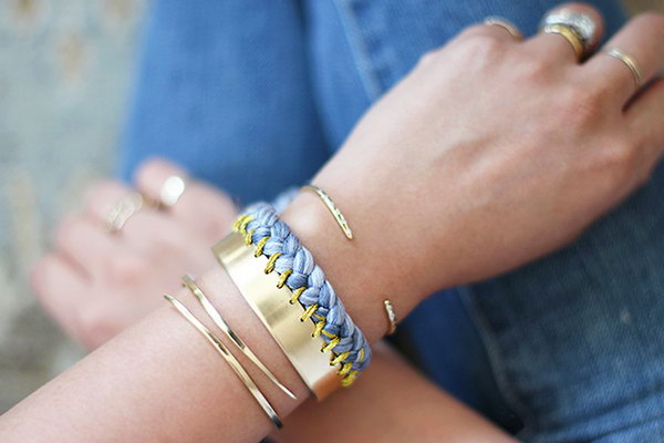 DIY Braided Cuff. See the tutorial
