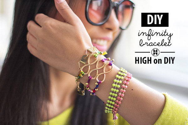 DIY Infinity Beaded Bracelet. See the tutorial