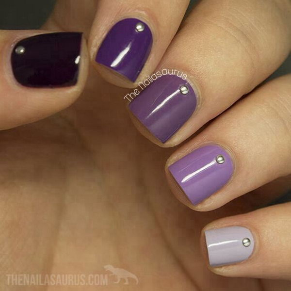 Ombre Violet Nail Art Designs - 30+ Trendy Purple Nail Art Designs You Have To See