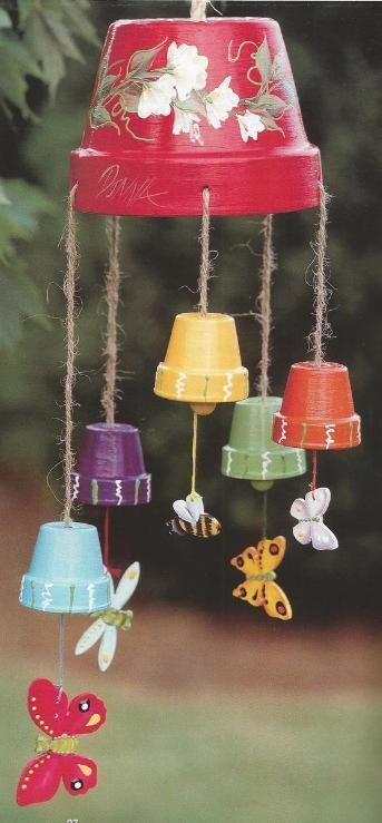 Amazing diy wind chime ideas tutorials for your garden for Terracotta wind chimes