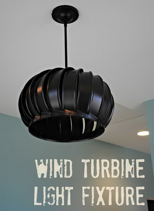 DIY Stylish Wind Turbine Pendant light.