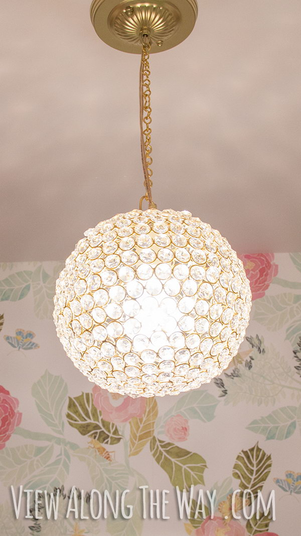 DIY Crystal Ball Chandelier.