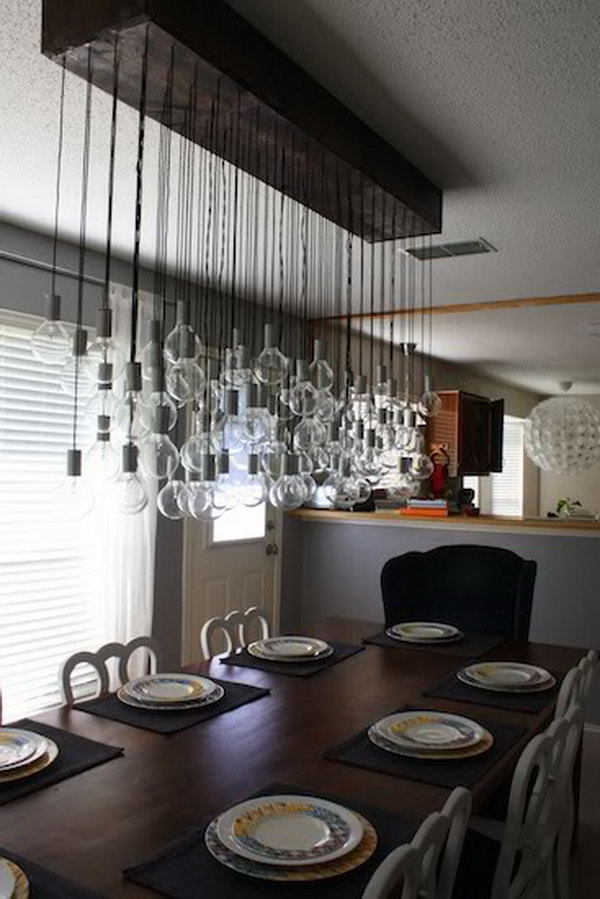 Diy dining room chandelier