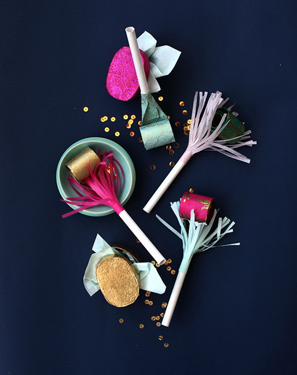 how to make paper flower straw