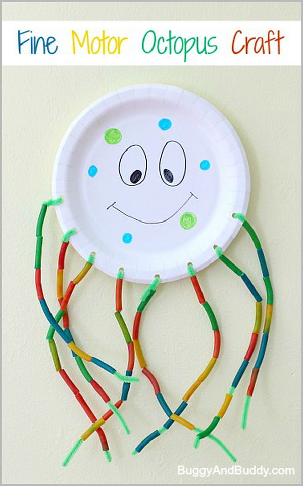 Fine Motor Octopus Craft for Kids. See how to make it
